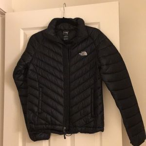 Black north face waterproof jacket